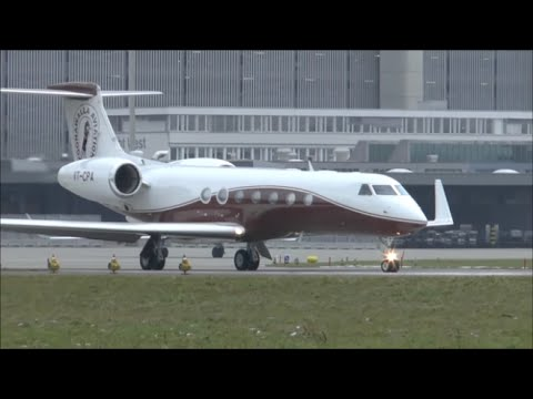 Gulfstream V (VT-CPA) take-off at Zurich Airport (WEF 2015)