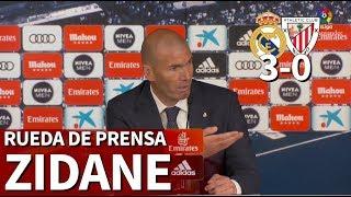 real madrid 3 athletic 0 rueda de prensa de zidane diario as