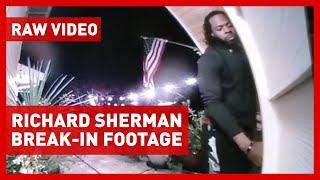 Richard Sherman trying to enter Redmond home - RAW VIDEO