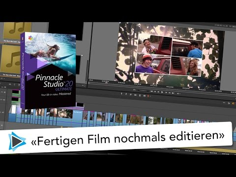 Pinnacle Studio 20 Video Tutorial Deutsch fertig geschnittenen Film bearbeiten und spuren separat ex