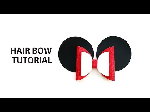 Tutorial Diy Hair bow Minnie Mouse Ears for girls How to make Cricut