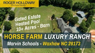 Luxury Ranch Equestrian Estate On 10+ Acres With Marvin Schools