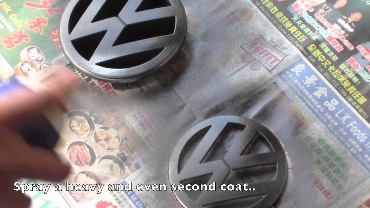 plasti dipping vw emblems youtube