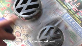 Plasti Dipping VW Emblems