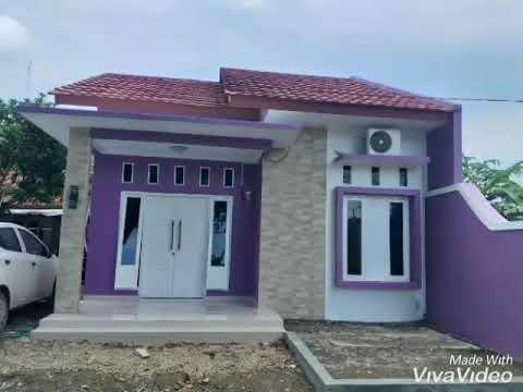 Rumah Minimalis Warna Ungu - YouTube