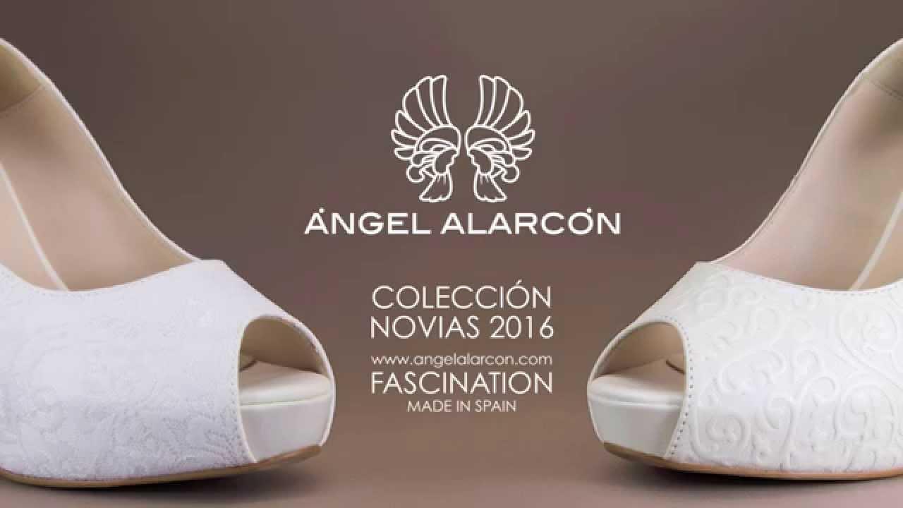 c0e52eeb0f Zapatos de novia 2016 - Avance de la colección de la marca Ángel Alarcón -  YouTube
