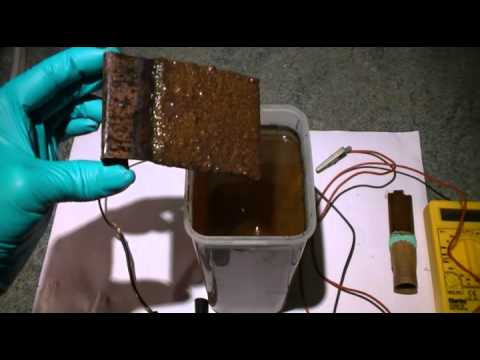 How to make copper oxide (CuO) using electrolysis