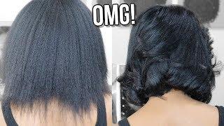 I CUT MY HAIR!!! 😱 Sleek Blunt Bob | Red ➝ Black | How Did My Hair Break Off?!