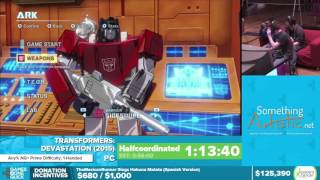 Transformers: Devastation by Halfcoordinated in 44:53 - Awesome Games Done Quick 2016 - Part 20