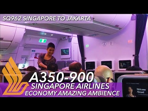 Singapore Airlines A359 ECONOMY Class | SQ962 SIN-CGK Flight VLOG ...