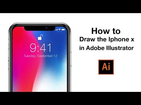 How to draw Iphone X|Adobe Illustrator tutorial
