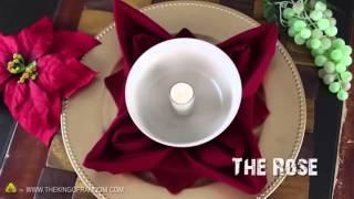 9 способов как необычно сложить Праздные Салфетки!