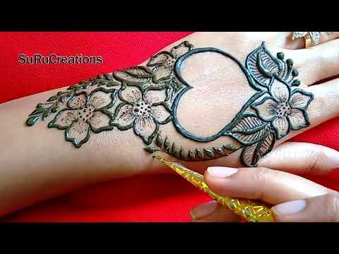 Beautiful Valentine Special Heart Mehndi Design | Easy Mehndi Design | 2019
