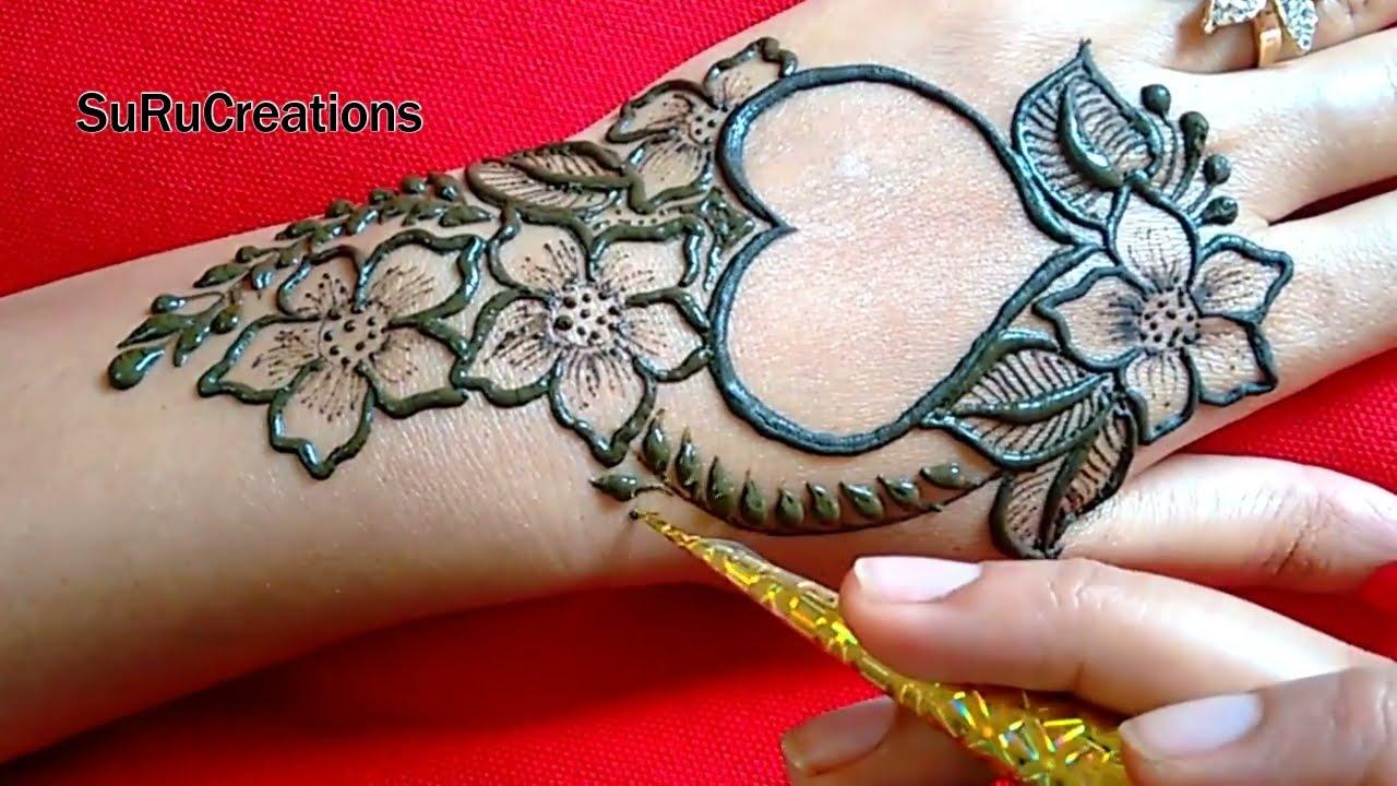 new mehndi design simple beautiful
