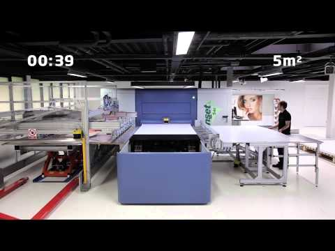 How fast is the Inca Onset S40i Wide Format Digital Inkjet Printer?