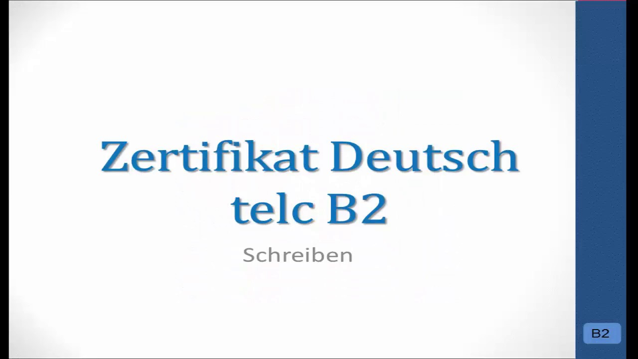 Prüfungsvorbereitung Telc B2 Bewerbung Praktikumhospitation Youtube