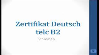 Prüfungsvorbereitung telc B2 - Bewerbung Praktikum/Hospitation