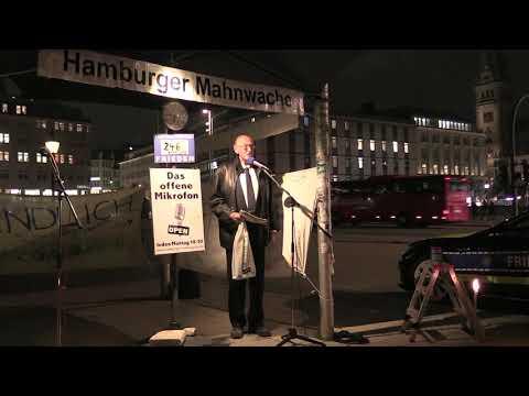 Holger Strohm am 11.11.2019 auf der Hamburger Mahnwache