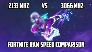 Fortnite 2133MHz vs 3066MHz RAM (16GB Dual Channel) | FPS TEST | AMD Ryzen 5 1600