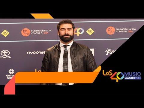 Jorge Cremades emocionado al recoger su LOS40 Music Award