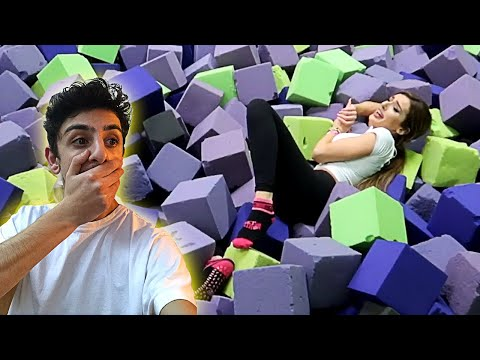 Molly ACTUALLY GOT INJURED by doing this... (TRAMPOLINE PARK DARES) | FaZe Rug