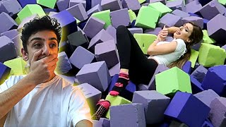 Molly ACTUALLY GOT INJURED by doing this... (TRAMPOLINE PARK DARES)