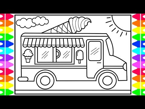 - How To Draw An Ice Cream Truck For Kids 💙💜💚 Ice Cream Truck Drawing And  Coloring Pages For Kids - YouTube