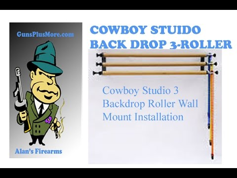 Cowboy stuido Back drop3-Roller Wall Mounting system install