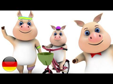 Dieses Kleine Schweinchen | Deutsche Kinderlieder | Vorschulische Lieder |  Wiegenlied