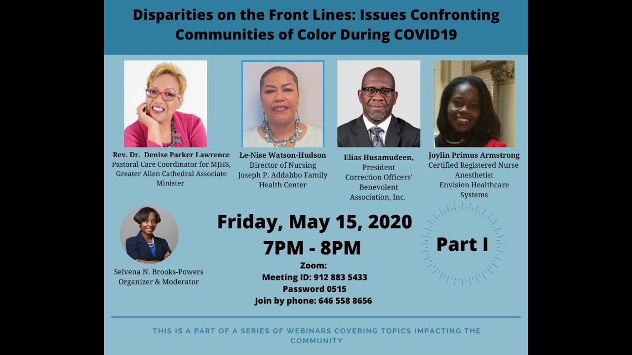 Disparities on the Front Lines: Issues Confronting Communities of Color During COVID19
