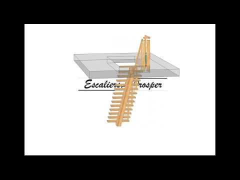 Escalier droit limon central youtube - Escalier a limon central ...