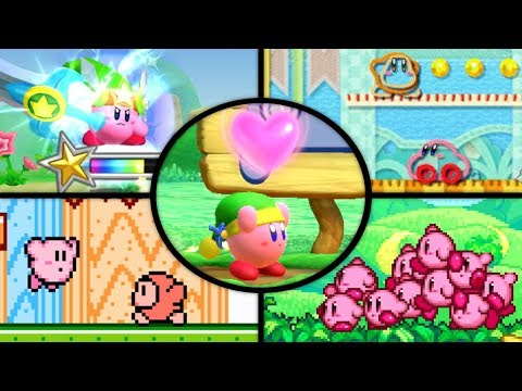 Evolution of First Levels in Kirby Games (1992 - 2018)