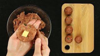 Мясные шарики с сыром - Рецепты от Со Вкусом