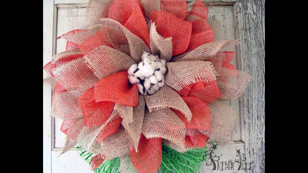 Mesh Flower Tutorial With Poly Jute Amp Poly Burlap By