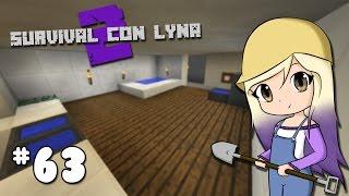 CONSTRUIMOS EL BAÑO DE NUESTRA MANSION | Survival con Lyna 2 | Episodio 63