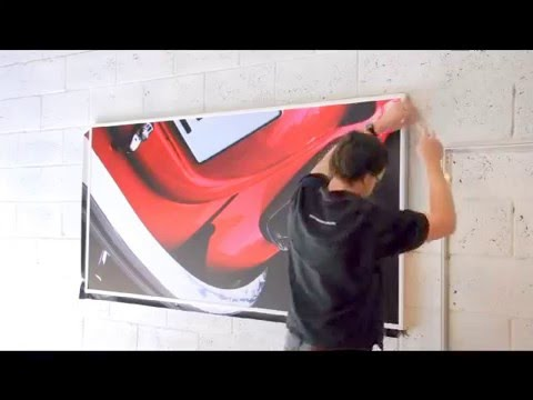 Wall Banner Frame Installation - YouTube
