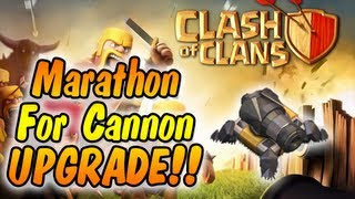 Clash of Clans - Marathon #1 - Upgrading Cannon to Level 10! (Tons of Gold & Elixir Raids)