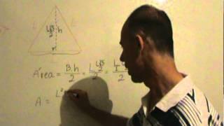 Área de triângulo equilátero - dedução da fórmula.MPG