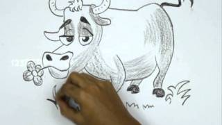 How to Draw a Cartoon Bull