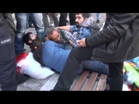Turkish police killing women and children