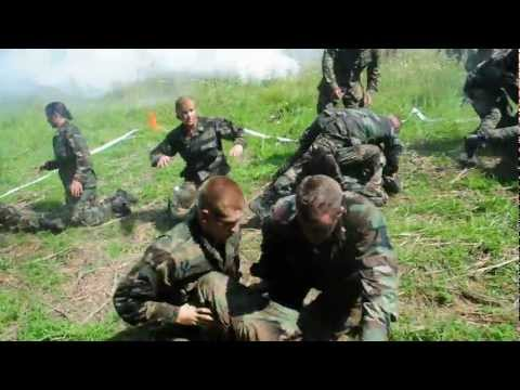 Midshipmen, prospective Marine officers, attack each other in final Leatherneck event
