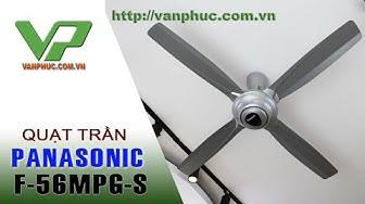 Quạt trần Panasonic F-56MPG-S bốn cánh, điều khiển từ xa