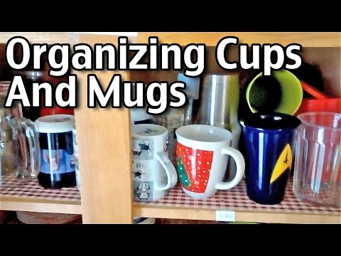 Organizing Cups And Coffee Mugs In The Pantry