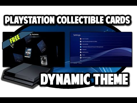[ps4-themes]-playstation-collectible-cards-dynamic-theme-video-in-60fps