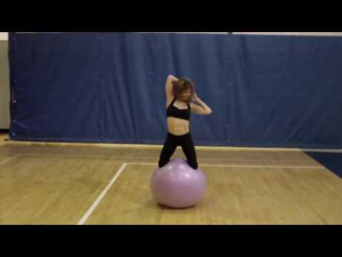 Calisthenics/Yoga Style Routine on Swiss Ball:Core Fitness B ALLZERCISE