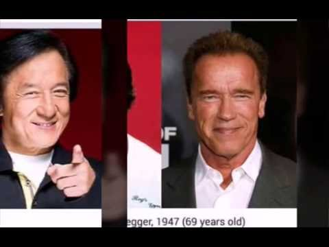 HOLLYWOOD ACTION STARS - THEN AND NOW