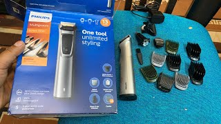 Unboxing of Philips MG7715/15 13-in -1 Face, Hair and Body Multigroomer Trimmer (Gray)