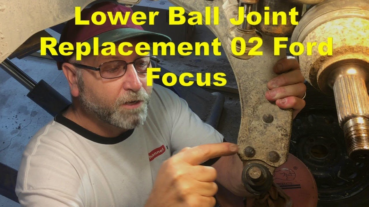 Replacing Lower Ball Joint On 2006 Ford Focus Youtube