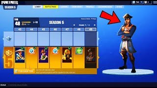 Video NUEVO PASE DE BATALLA 5 SKINS! PASE DE TEMPORADA 5 Fortnite: Battle Royale | FREE V-BUCKS FORTNITE download MP3, 3GP, MP4, WEBM, AVI, FLV Agustus 2018