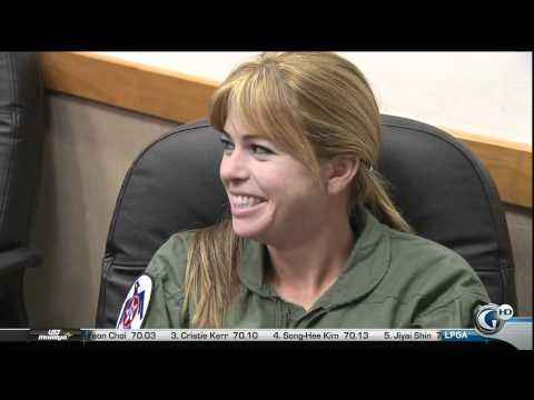 Paula Creamer Takes Flight In A F-16 Fighter Jet [HD]